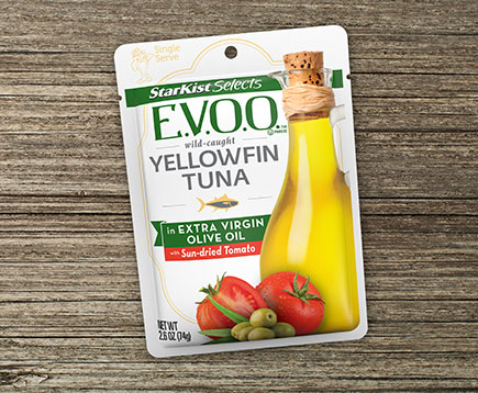 Wild Caught Yellowfin Tuna in Extra Virgin Olive Oil with Sun-dried Tomato