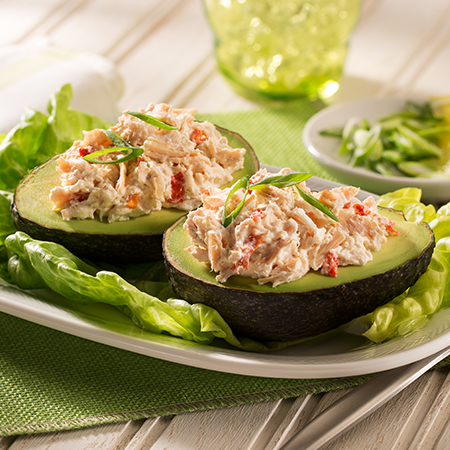 Chicken Salad in an Avocado