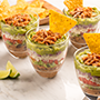 Spicy Seven Layer Dip Cups