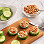 Cucumber Rounds with Jalapeno Tuna