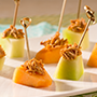 Cool And Spicy Melon Bites