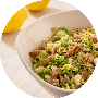 Lemon Tuna Brussels Sprout Salad
