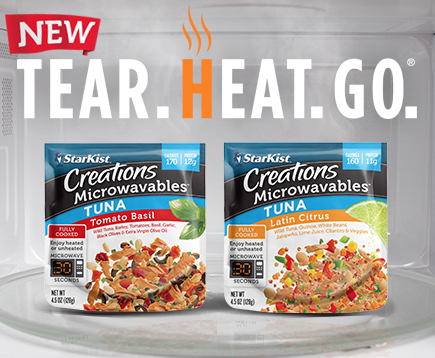 NEW StarKist Creations Microwavables™ Pouches