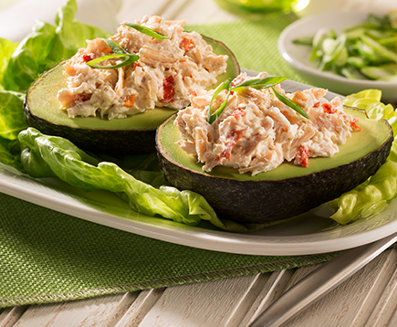 Quick Chicken Salad in an Avocado