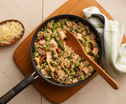 Albacore and Barley Risotto