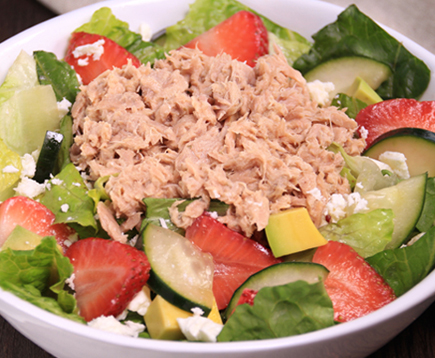 Hungry Girl's Fruit 'n Feta Tuna Salad in a Jar