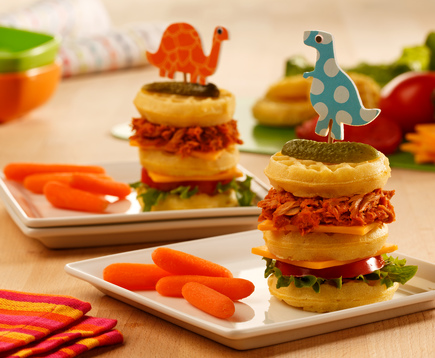 Fun Waffle Sandwiches for Kids