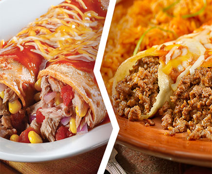 Tuna Enchiladas Vs. Beef Enchiladas