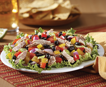 Black Bean and Pepper Tuna Salad