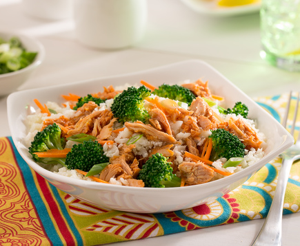 Broccoli Sriracha Tuna Bowl