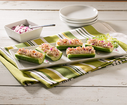 Chicken Salad Cucumber Boats
