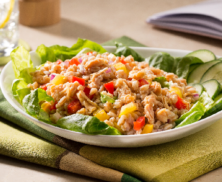 Zesty Farro Salad with Lemon Pepper Chicken