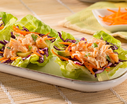 Ginger Sesame Chicken Lettuce Wraps
