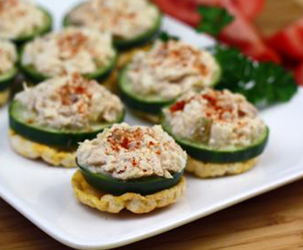 Hungry Girl's Cheesy Tuna Salad Stackers