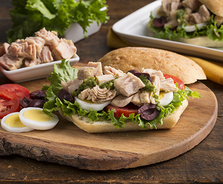 Tuna Nicoise Salad Sandwiches