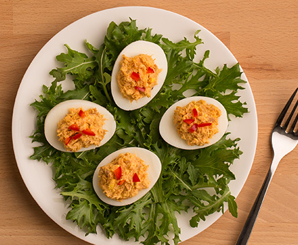 Devilishly Bold Sriracha Eggs