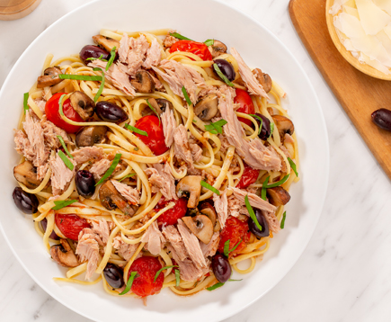 Roasted Vegetable and Tuna Pasta