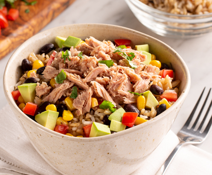 Southwestern Smoked Tuna Rice Bowl