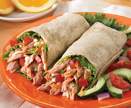 Sweet and Spicy Tuna Wraps