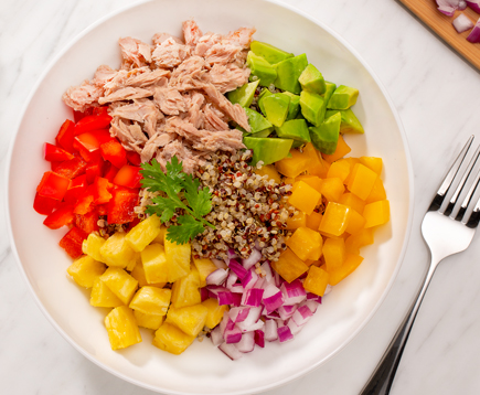 Tropical Tuna and Quinoa Bowls