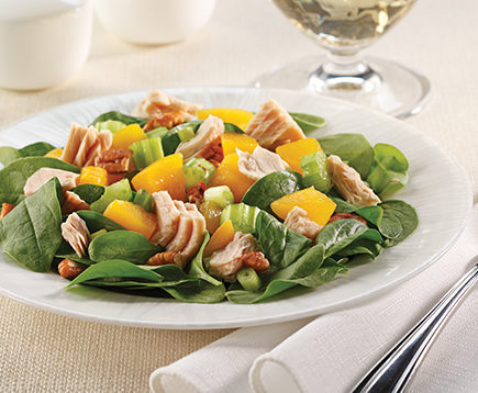 Tuna, Peach and Pecan Salad