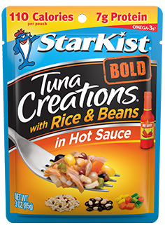 NEW Tuna Creations® with Rice & Beans in Hot Sauce