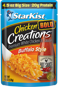 NEW Chicken Creations® BOLD Buffalo Style — 4.5 oz. Big Size pouch