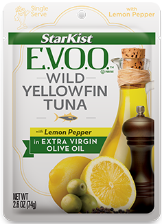 StarKist E.V.O.O.™ Yellowfin Tuna with Lemon Pepper in Extra Virgin Olive Oil