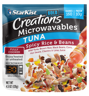 Creations Microwavables® Spicy Rice & Beans Tuna