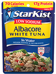 Low Sodium Albacore White Tuna in Water (Pouch)