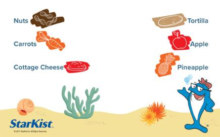 Match these foods together to make your favorite snacks!