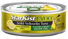 Solid Yellowfin Tuna with Lemon Dill in Extra Virgin Olive Oil