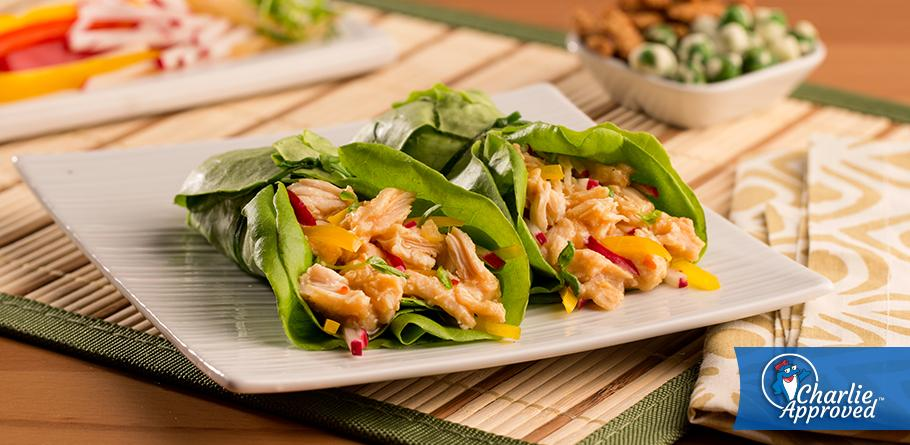 Asian Ginger Chicken Lettuce Wraps