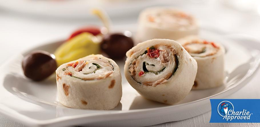 Basil and Sundried Tomato Tuna Rolls