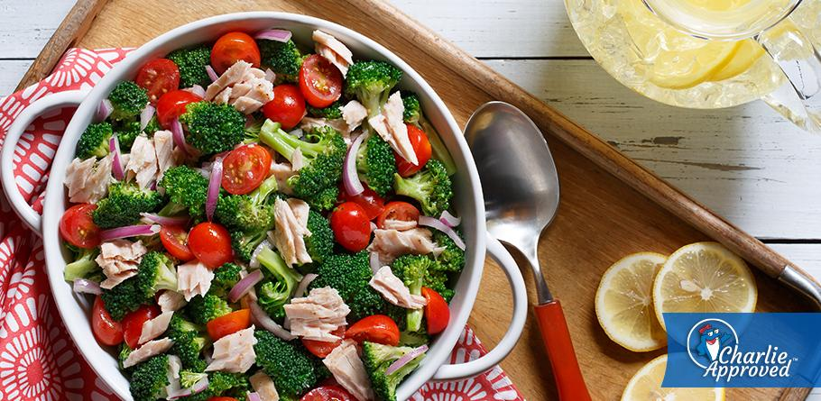 Broccoli, Tuna and Tomato Salad