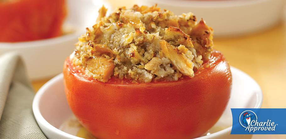 Broiled Tomatoes Stuffed with Tuna