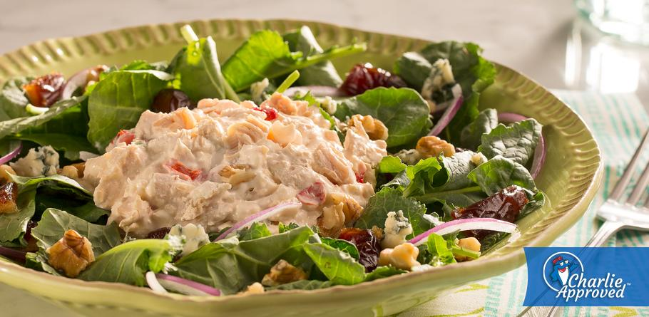 Spinach and Kale Chicken Salad