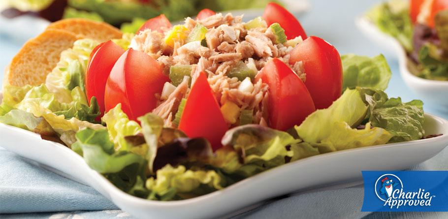 Hearty Herb & Garlic Tuna Salad for 2