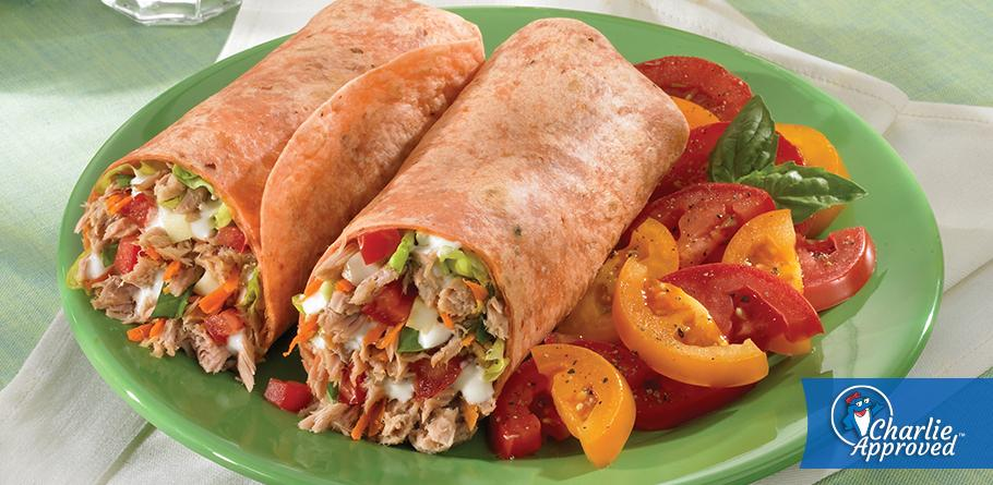 Herb and Garlic Tuna Wraps