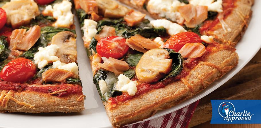 Spinach Tuna Pizzas