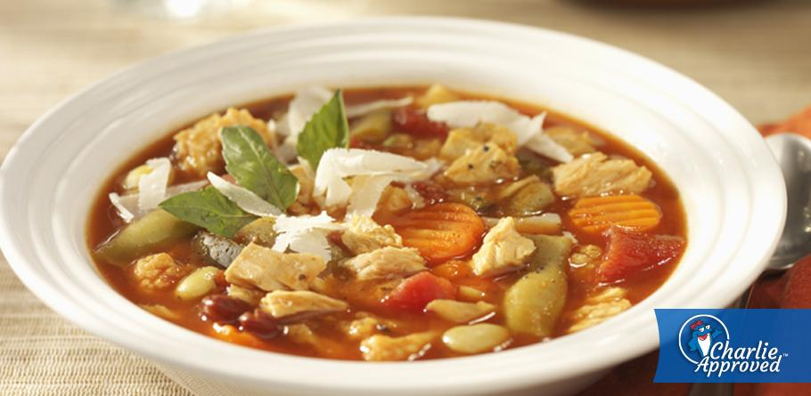 Tuna Minestrone with Parmesan Cheese