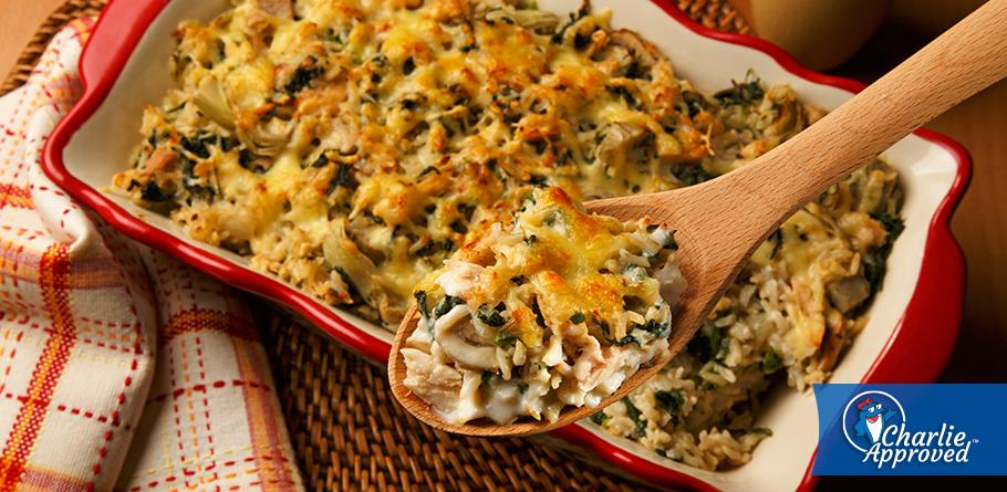 Tuna, Spinach and Artichoke Casserole
