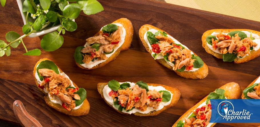 Yellowfin Tuna and Sundried Tomato Crostini