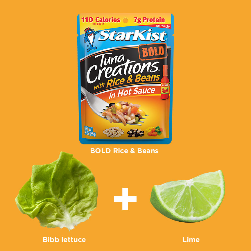 Tuna Creations® Bold Rice & Beans + Bibb Lettuce + Lime