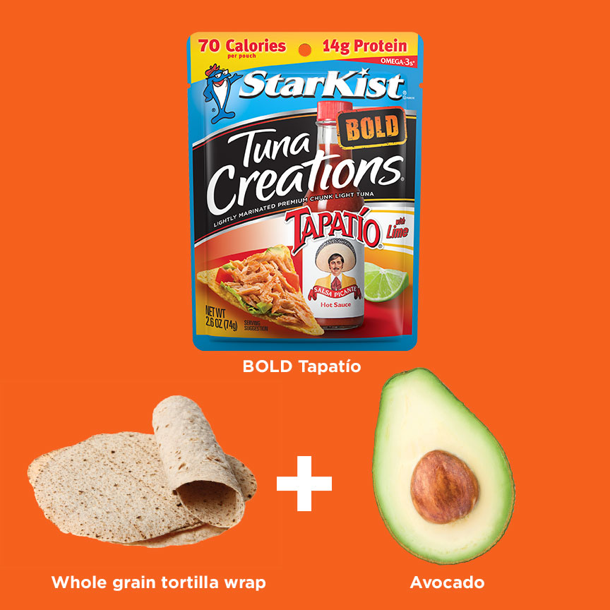 Tuna Creations® Bold Tapatío + Whole Wheat Tortilla + Avocado